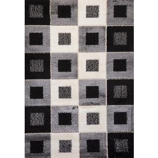 Stone Checkered Signature Turkish Area Rug (3' x 8')