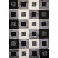 Stone Checkered Signature Turkish Area Rug - 3' x 8'