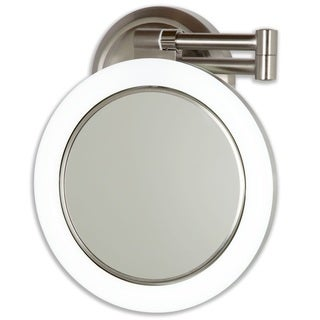 Danielle Revolving Lighted 1x 10x Wall Mount Mirror Free