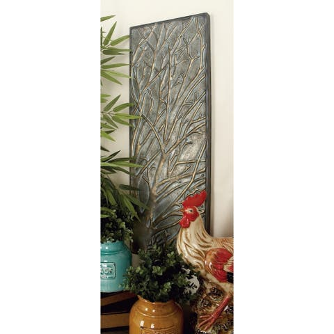 Traditional 29 Inch Decorative Fleur-De-Lis Iron Cross by Studio 350
