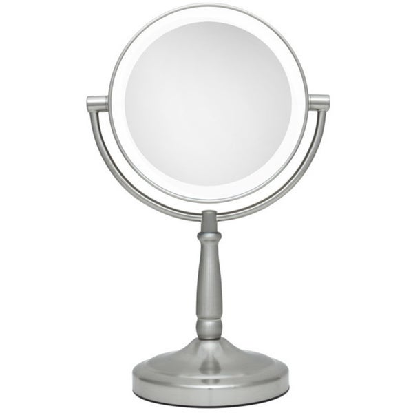 zadro 9 inch next generation led cordless double sided round vanity mirror. Black Bedroom Furniture Sets. Home Design Ideas