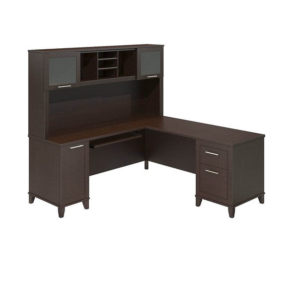 Bush Furniture Somerset 71-inch L-desk with Hutch - Free Shipping