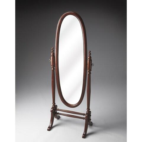 Oval Cherry Cheval Mirror