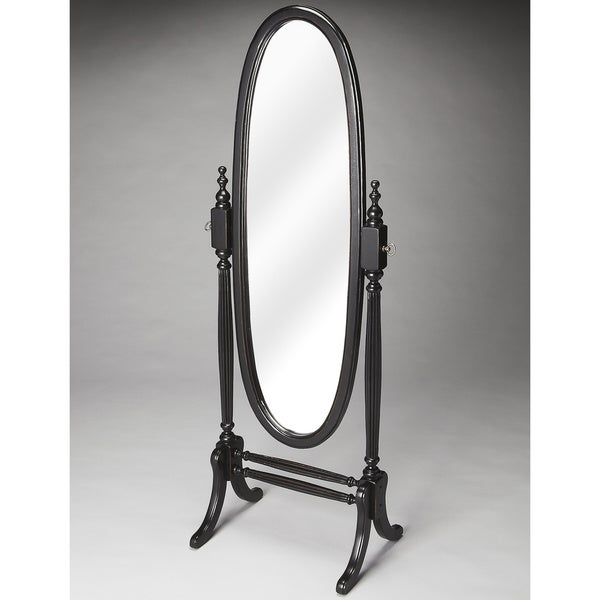 Black Licorice Oval Cheval Mirror - Twlight - A/N