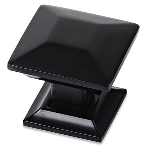 Southern Hills Black Square Cabinet Knob (Pack of 5)
