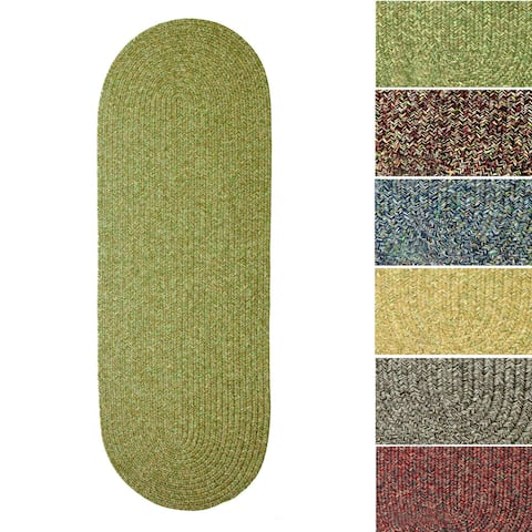 Rhody Rug Sandi Indoor/ Outdoor Reversible Braided Oval Runner Rug (2' x 6') - 2' x 6' Runner