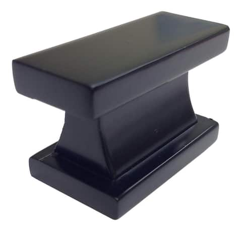 Southern Hills Black Rectangle Cabinet Knobs (Pack of 10)