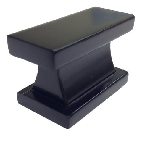 Southern Hills Black Rectangle Cabinet Knobs (Pack of 25)
