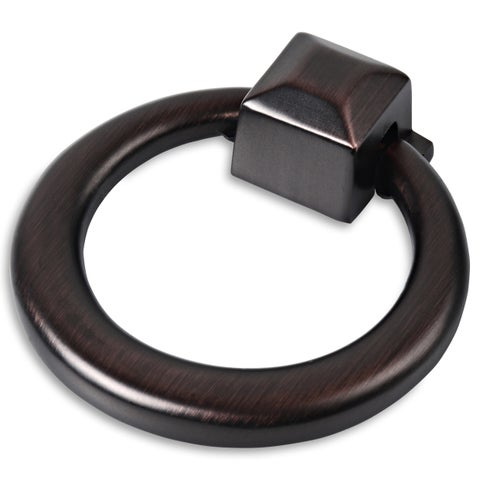 Southern Hills Oil Rubbed Bronze Cabinet Drawer Ring Pull (Set of 10)
