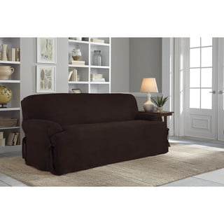 Tailor Fit Relaxed Fit Smooth Suede T-Cushion Sofa Slipcover