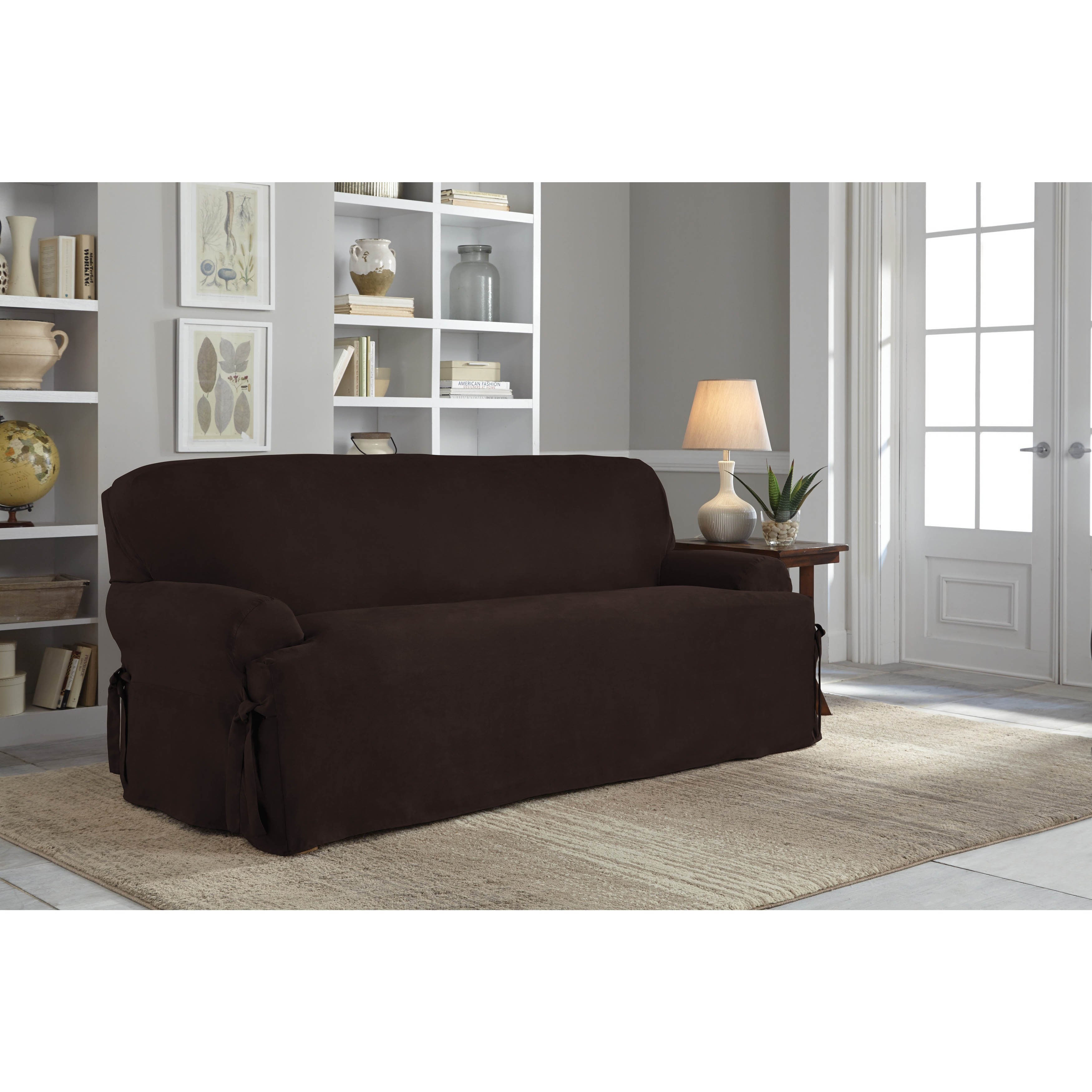 Tailor Fit Relaxed Fit Smooth Suede T Cushion Sofa Slipcover Ebay