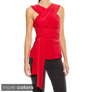 Women's Versitile Convertible Multiway Wrap Top Made In USA
