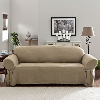 Tailor Fit Relaxed Fit Smooth Suede Sofa Slipcover