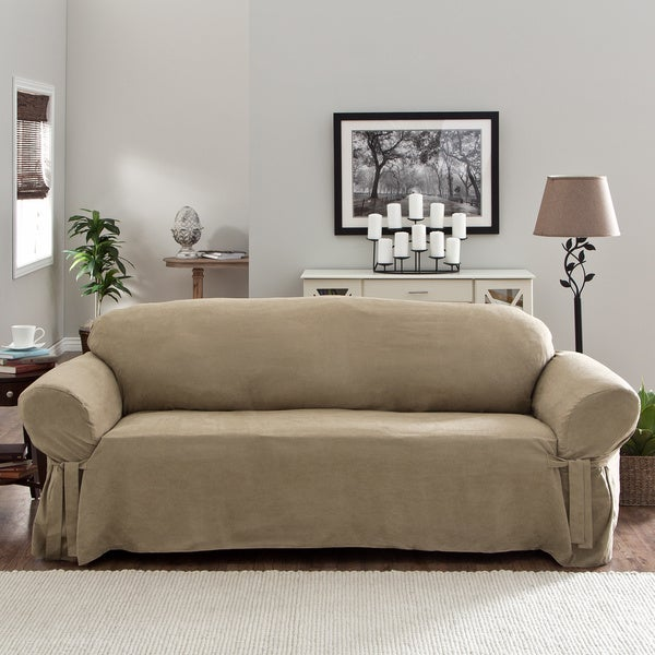 Shop Tailor Fit Relaxed Fit Smooth Suede Sofa Slipcover