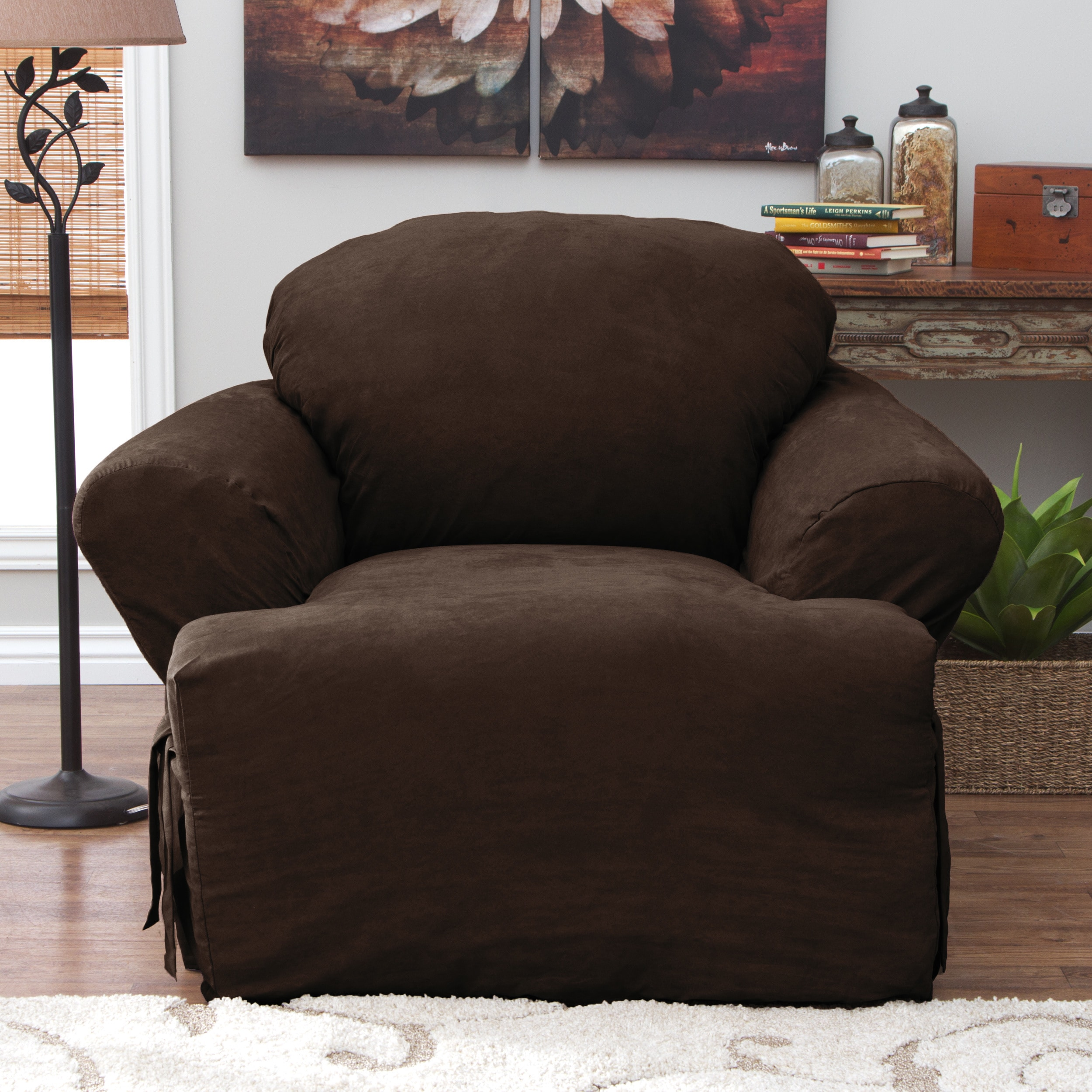Tailor Fit Relaxed Fit Smooth Suede T-Cushion Chair Slipc...