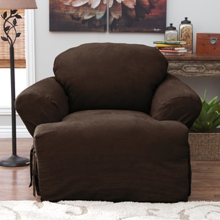 Tailor Fit Relaxed Fit Smooth Suede T-Cushion Chair Slipcover