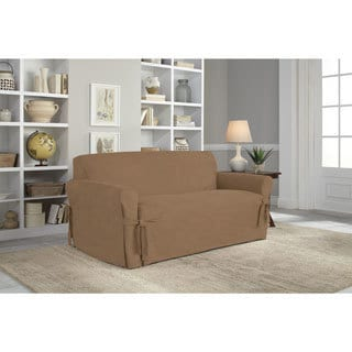 Tailor Fit Relaxed Fit Smooth Suede Loveseat Slipcover