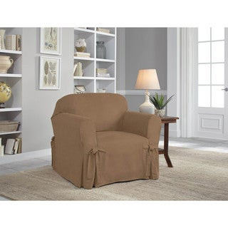 Tailor Fit Relaxed Fit Smooth Suede Chair Slipcover