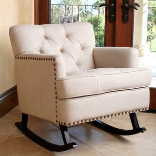 Clearance Chairs Living Room. Abbyson Clara Beige Linen Nailhead Trim Rocker Living Room Chairs For Less  Clearance Liquidation Overstock com
