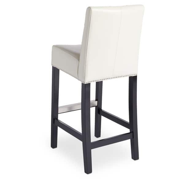 Excellent Shop Abbyson Masimo Ivory Bonded Leather Bar Stool On Sale Theyellowbook Wood Chair Design Ideas Theyellowbookinfo