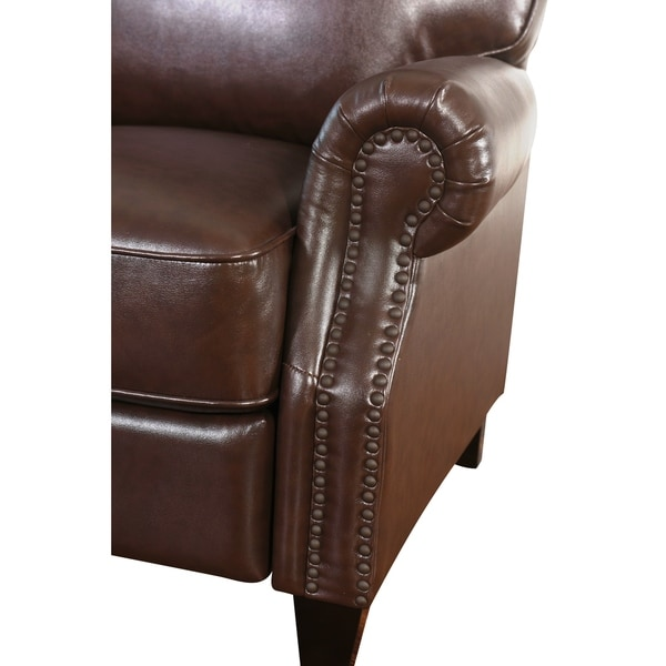 Abbyson Carla Brown Bonded Leather Push Back Recliner - Free Shipping Today - Overstock.com - 16739200  sc 1 st  Overstock.com & Abbyson Carla Brown Bonded Leather Push Back Recliner - Free ... islam-shia.org