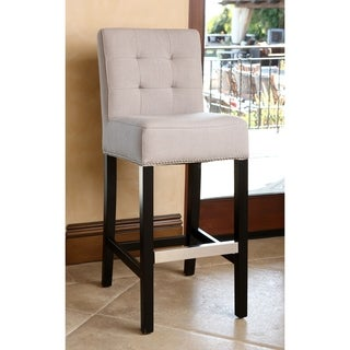 Abbyson Masimo 30-inch Cream Linen Bar Stool