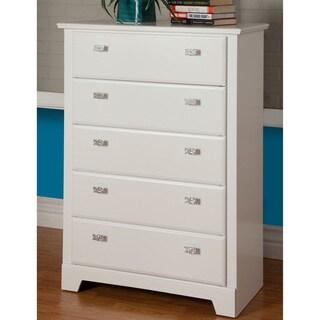 Sandberg Furniture Hailey 5-drawer White Chest