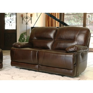 ABBYSON LIVING Breckinridge Top Grain Leather Power Reclining Loveseat