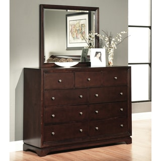 ABBYSON LIVING Beverley Espresso 9-drawer Dresser and Mirror Set