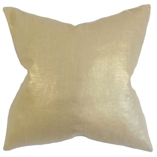Berquist Solid Feather Filled Thow Caramel Caramel Throw Pillow