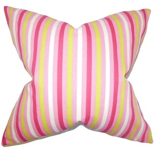 Keyla Stripes 18-inch Feather Filled Thow Pillow