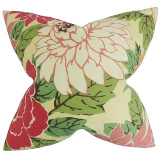 Delaney Sorbet Floral Feather Filled Throw Pillow