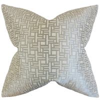 Daphnis Geometric Grey Grey Throw Feather and Down Filled Throw Pillow