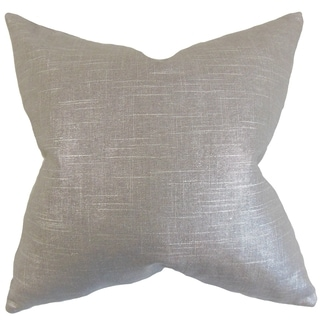 Berquist Pewter Solid Feather Filled Throw Pillow