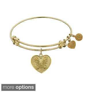Angelica Angelica Heart Fashion Charm Bangle Bracelet