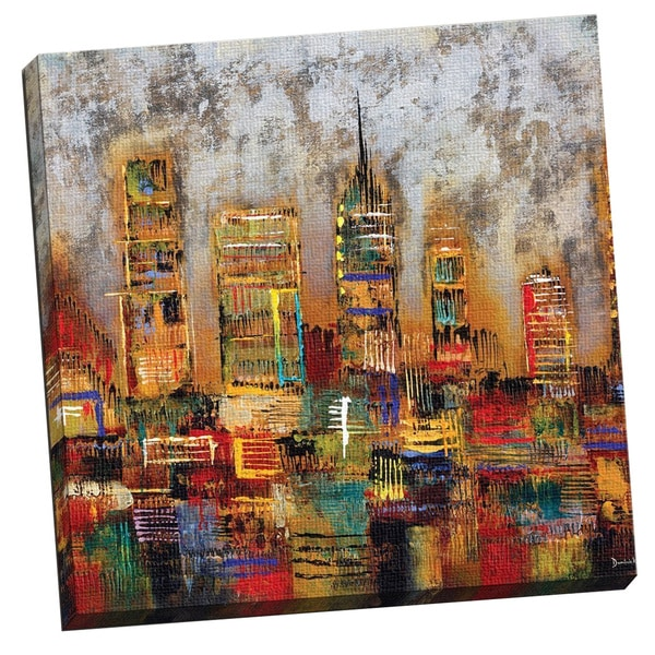 Portfolio Canvas Decor City Lights Gallery-wrapped Canvas