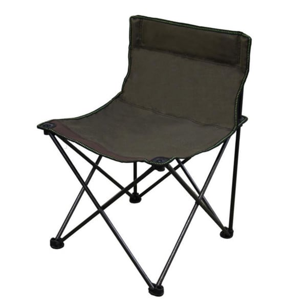 Portable Armless 13 inch Folding Brown Chair Free