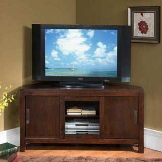 Shop Chocolate 50 Inch Sliding Door Corner Tv Console