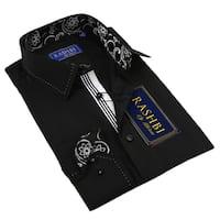 Rashbi Men's Long Sleeve Black Dress Shirt