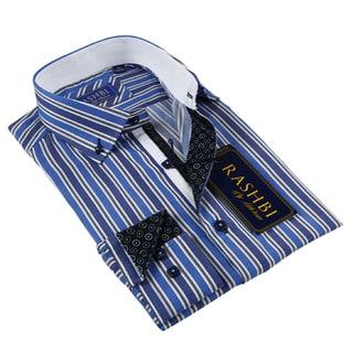 Rashbi Men's Blue Dress Shirt