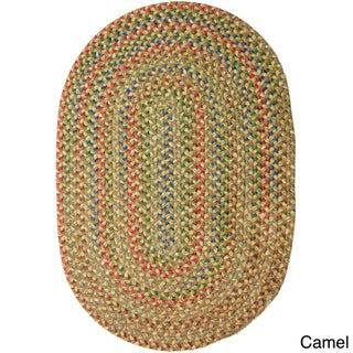 Rhody Rug Katie Indoor/ Outdoor Reversible Braided Rug (7' x 9') - 7' x 9' (Option: Camel)