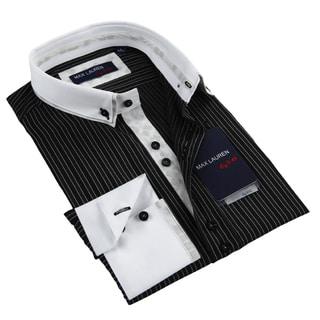 Max Lauren Men's Black Dress Shirt
