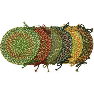 Katie Braided Chair Pads by Rhody Rug (Set of 4)