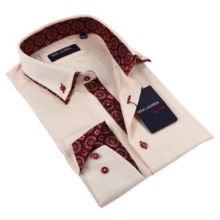 Max Lauren Men's Peach Dress Shirt