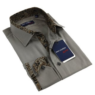 Max Lauren Men's Grey Dress Shirt