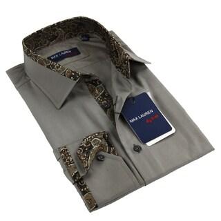 Max Lauren Men's Grey Dress Shirt