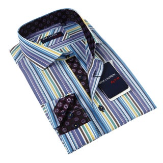 Max Lauren Men's Multicolor Dress Shirt