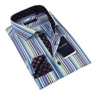 Max Lauren Men's Multicolor Dress Shirt