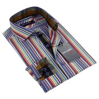 Max Lauren Men's Multicolor Stripe Dress Shirt