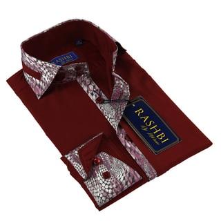 Rashbi Men's Burgundy Dress Shirt